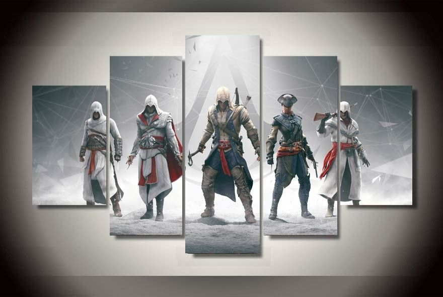Framed Printed Game assassins creed Painting children's room
