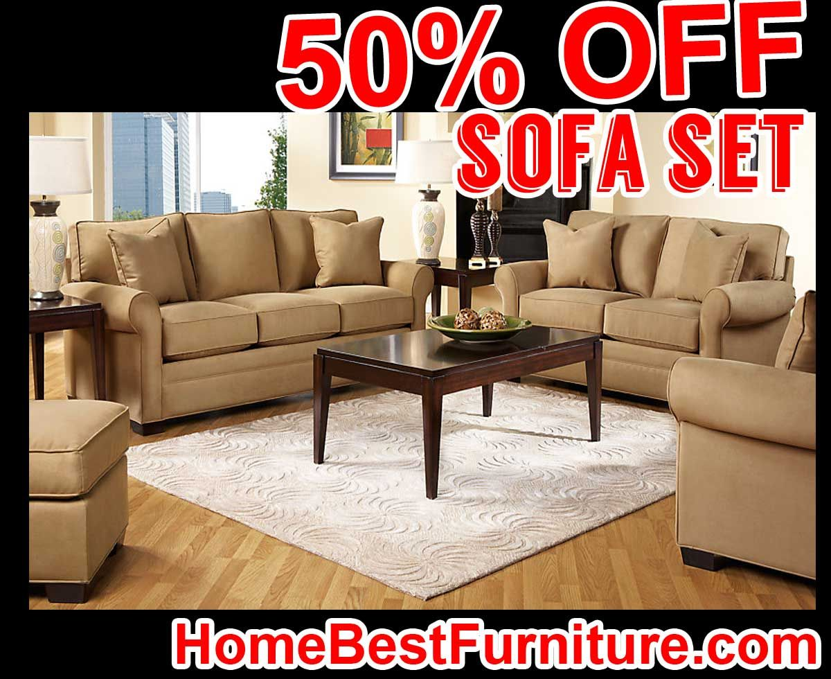 Living Room 50 Off 50 percent off discount cindy crawford home bellingham peat