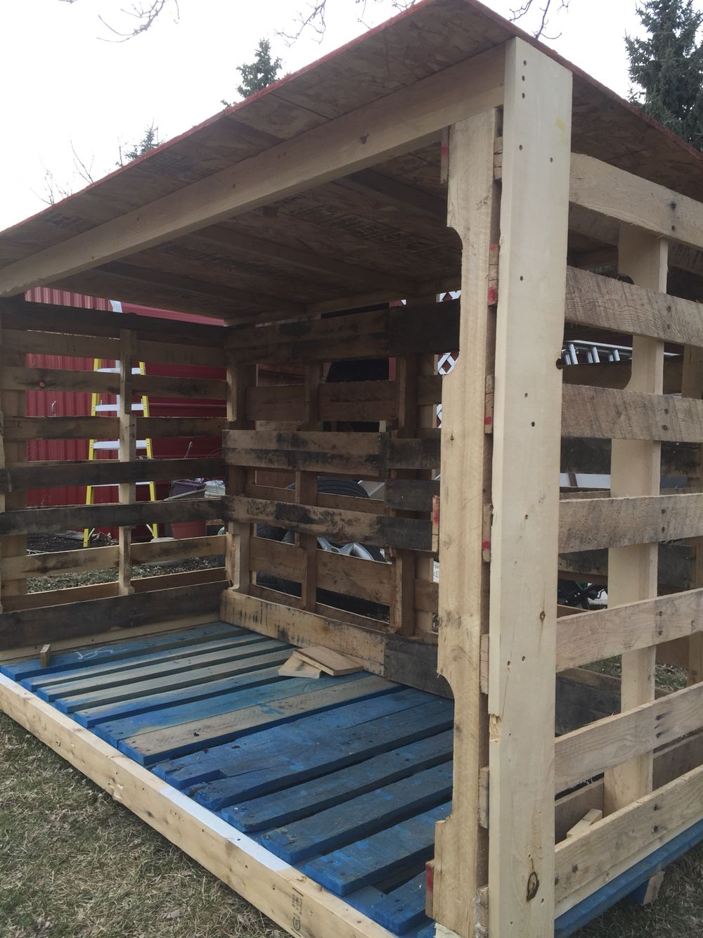 Pallet Firewood Shed Firewood Shed Outdoor Firewood Rack Firewood Storage Outdoor