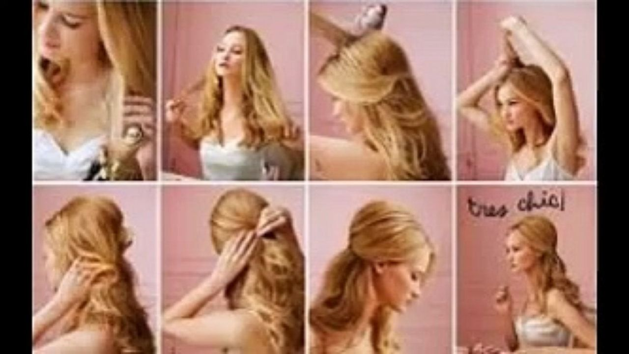 cute easy hairstyles for long thin hair - video 10 easy quick
