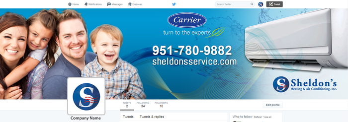 Social Media Marketing Facebook Banner Page for Sheldons Heating and Air by CI Web Group