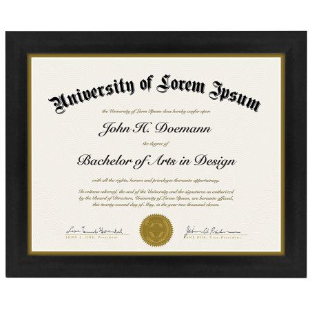 Americanflat Document Frame - Made to Display Certificates 8.5x11 ...