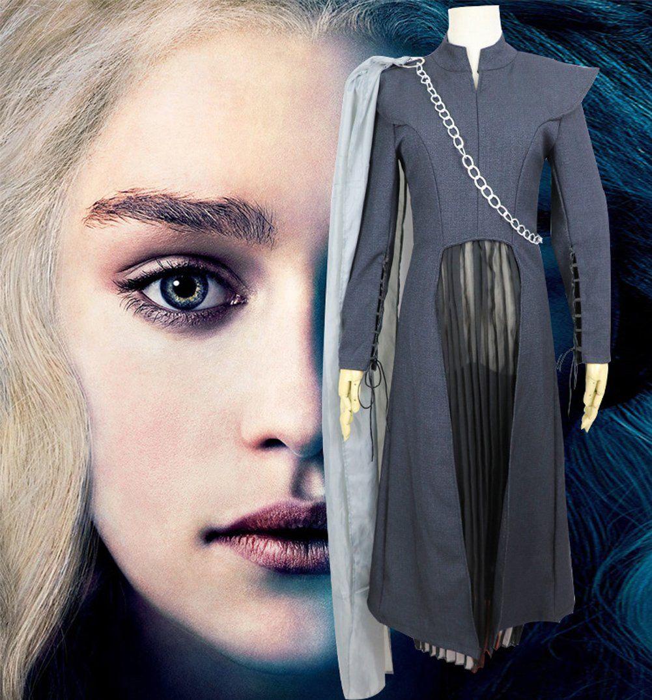 Wig Suit Daenerys Targaryen Game of Thrones Costume Cosplay Party Fancy Dress