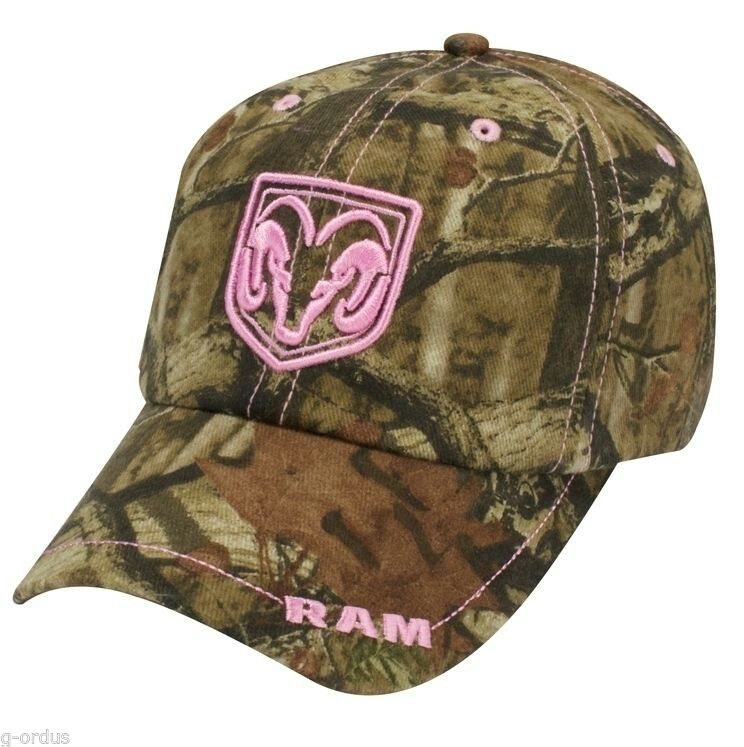97f98b22877 Camo and pink dodge hat