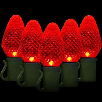 25 C7 Red Led Christmas Lights 8 Spacing C7 Led Christmas Lights Christmas Lights Led Christmas Lights