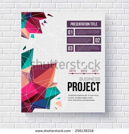 Presentation brochure template title page with a stylish geometric - geometric flyer template