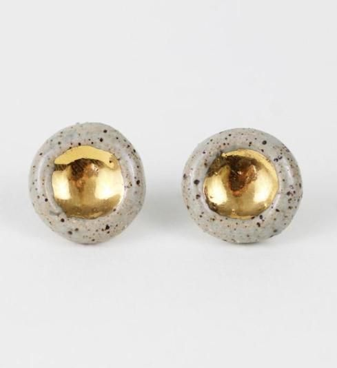 Barnacle Speckled Studs $64