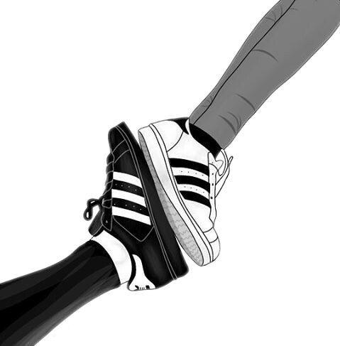 freundschaft freunde adidas blackandwhite schwarz -  Tumblr Site Blog - #adidas #blackandwhite #Freunde #Freundschaft #schwarz