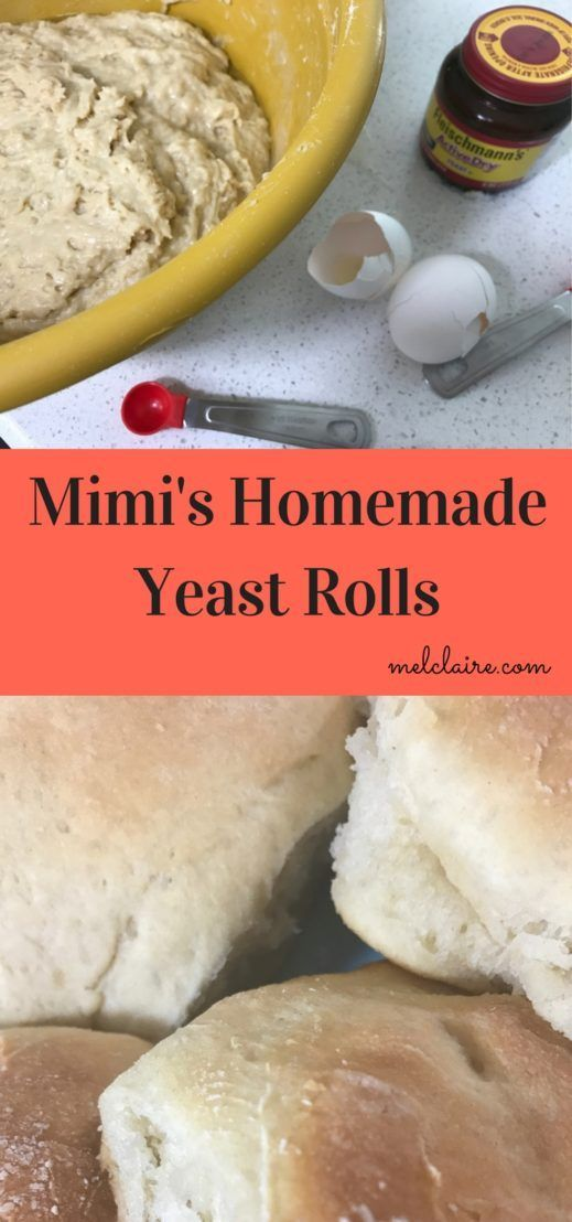 Mimi's best homemade yeast roll recipe is so easy and you will want to eat them right out of the oven all slathered in butter!