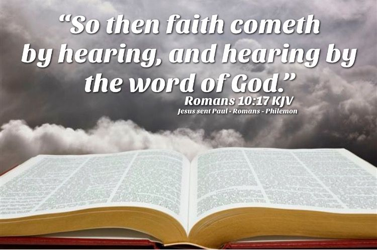 Image result for faith cometh by hearing kjv