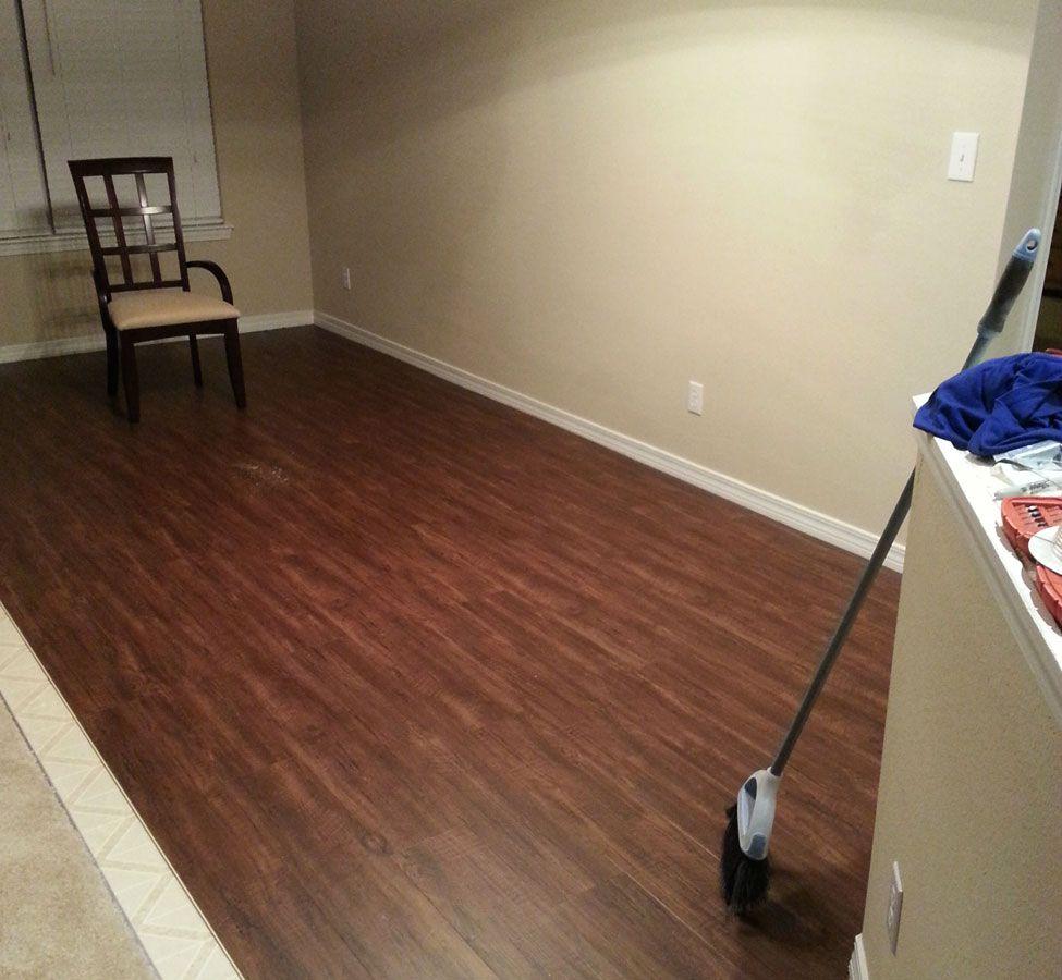 Coretec plus 5 waterproof vinyl planks room luxury for Coretec laminate flooring