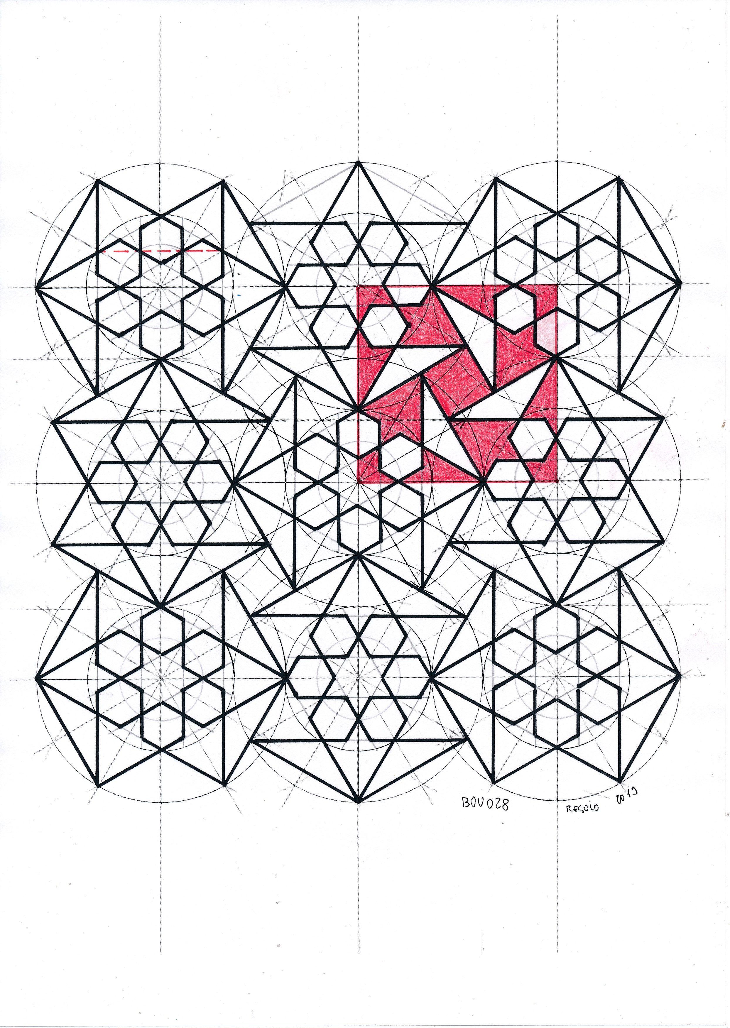 Bou028 Islamicart Islamicdesign Islamicgeometry Bourgoin Jaybonner Handmade Mathart Regolo54 Geometric Drawing Islamic Patterns Islamic Design Pattern