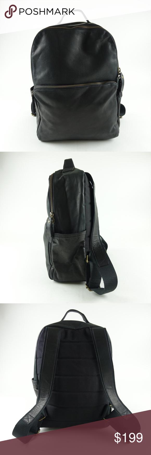 Banana Republic Troubadour Backpack Italian Leathe 855e4a137e