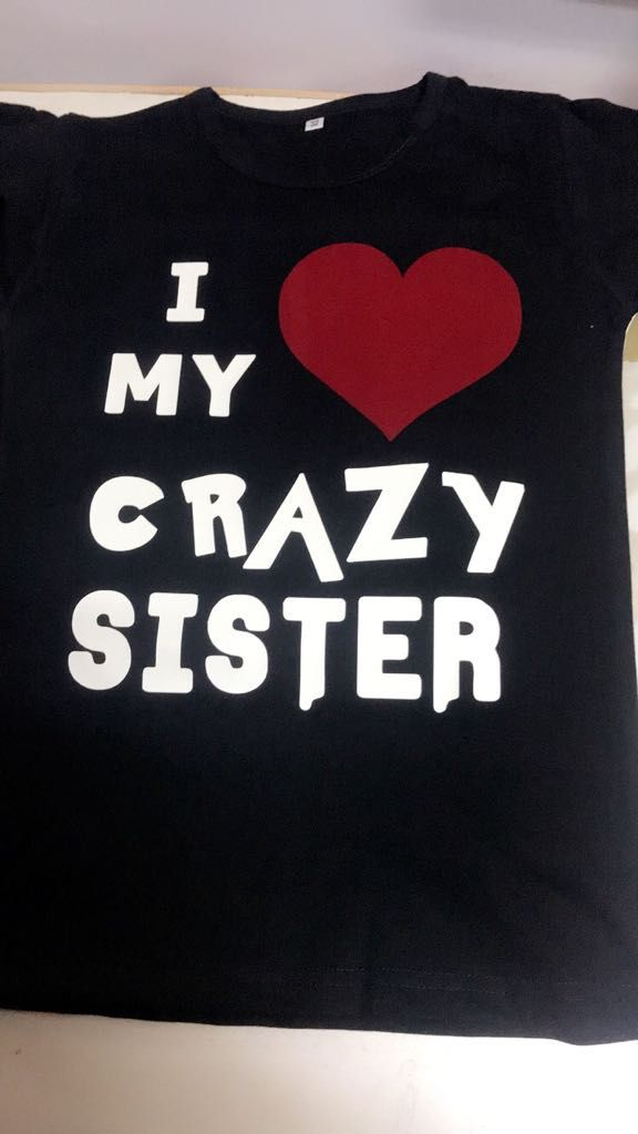 70aa8ef9 Sister Brother Custom T-Shirt. Siblings T-Shirt for the crazy brother-sister  duo.