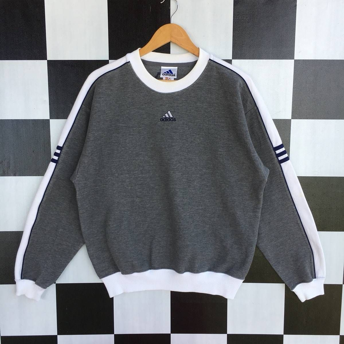 Adidas Vintage Adidas Equipment Embroidery Logo Sweatshirt 90s Grailed Vintage Adidas Sweatshirt Vintage Sportswear Clothes [ 1200 x 1200 Pixel ]