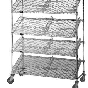 Slanted Wire Shelving With Bins | http://epochjournal.org ...