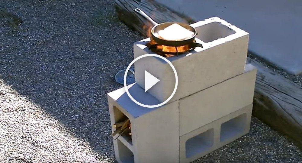 Aprende Cómo Armar Una Estufa Para Cocinar Con Bloques De Cemento Bioguia Bloques De Cemento Bloques Para Patios Estufas De Leña