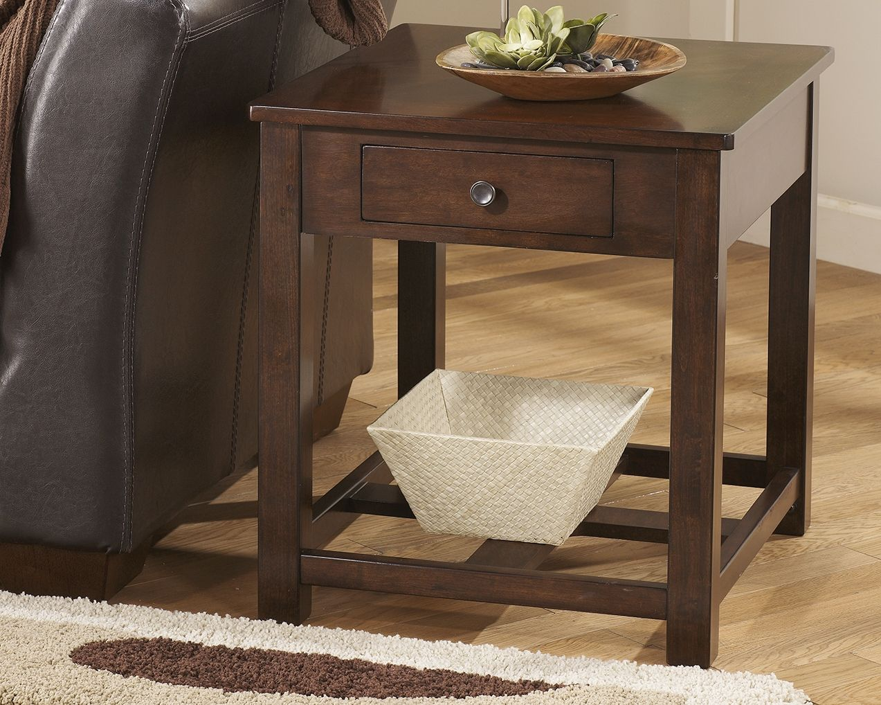 Marion end table dark brown end tables with drawers