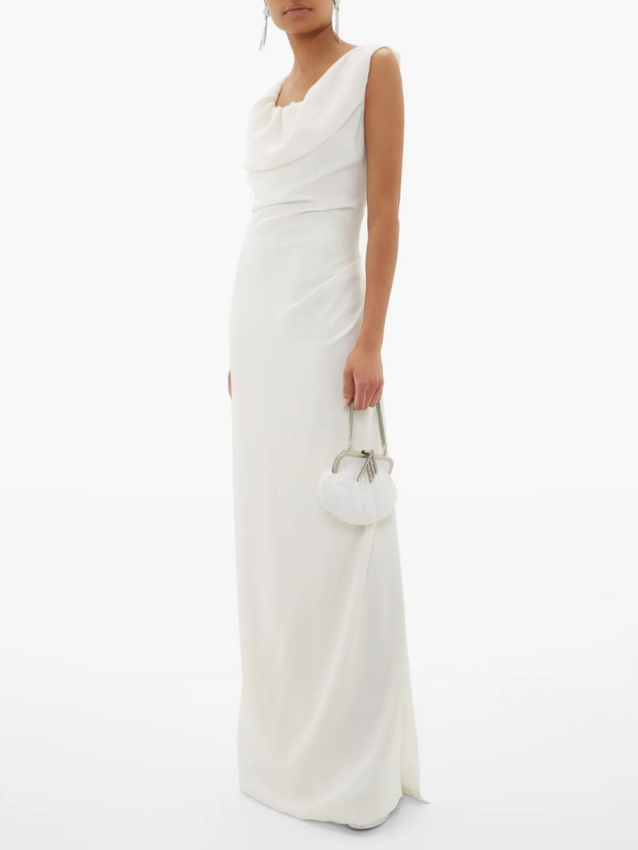 Ginnie Draped Off The Shoulder Satin Dress Vivienne Westwood Dresses Vivienne Westwood Satin Dresses [ 1332 x 1000 Pixel ]
