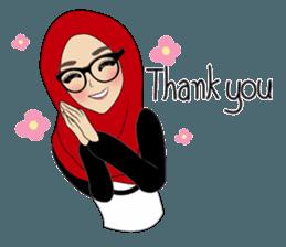 Best Funny Emoji  Miss Dua Hijabi cutie girl Eng.Version - Stiker LINE | LINE STORE 6