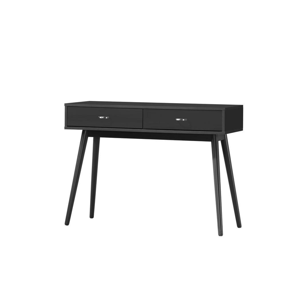 4d Concepts Montage Mid Century Black Desk 159000 Black Desk Mid Century Modern Desk Mid Century Desk