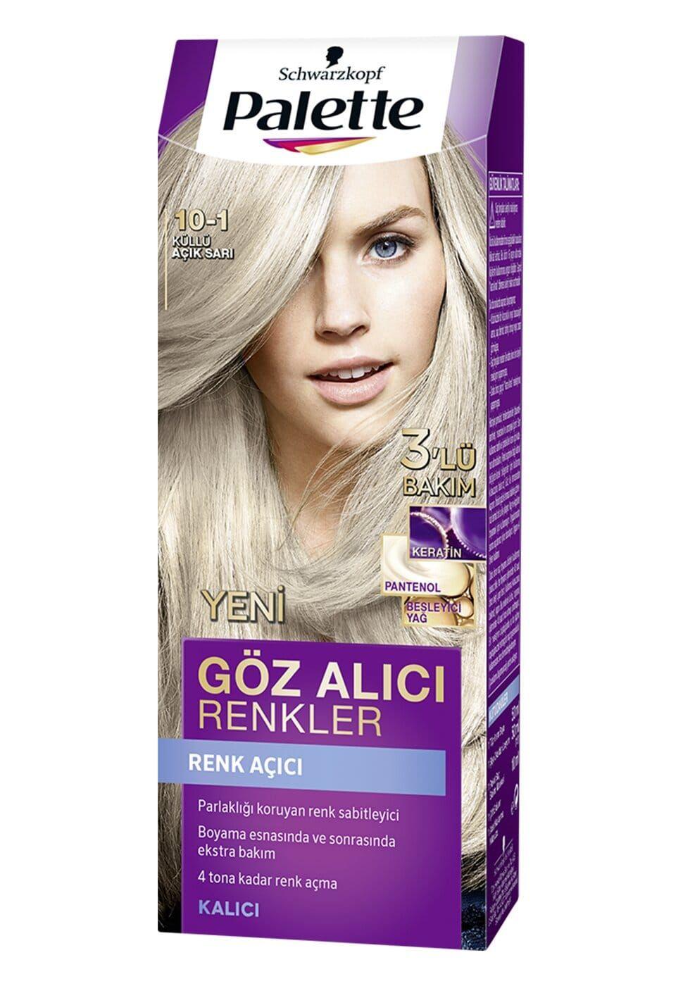 Schwarzkopf Palette Yogun Goz Alici Renkler Sac Boyasi 10 1 Kullu Acik Sari 2020 Sac Boyasi Sac Renkler