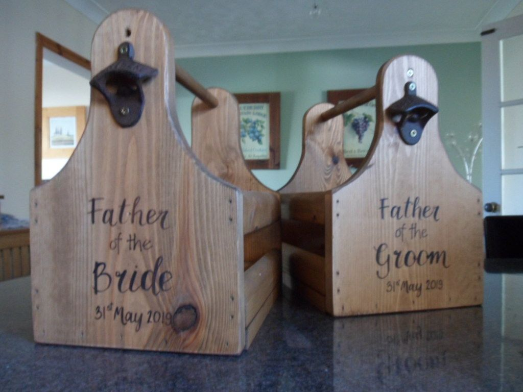 six pack large wood ale caddy beer crate personalised on fantastic repurposed furniture projects ideas in time for father s day id=97874