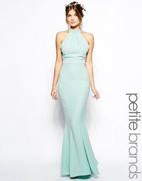 Image 1 ofJarlo Petite High Neck Maxi Dress