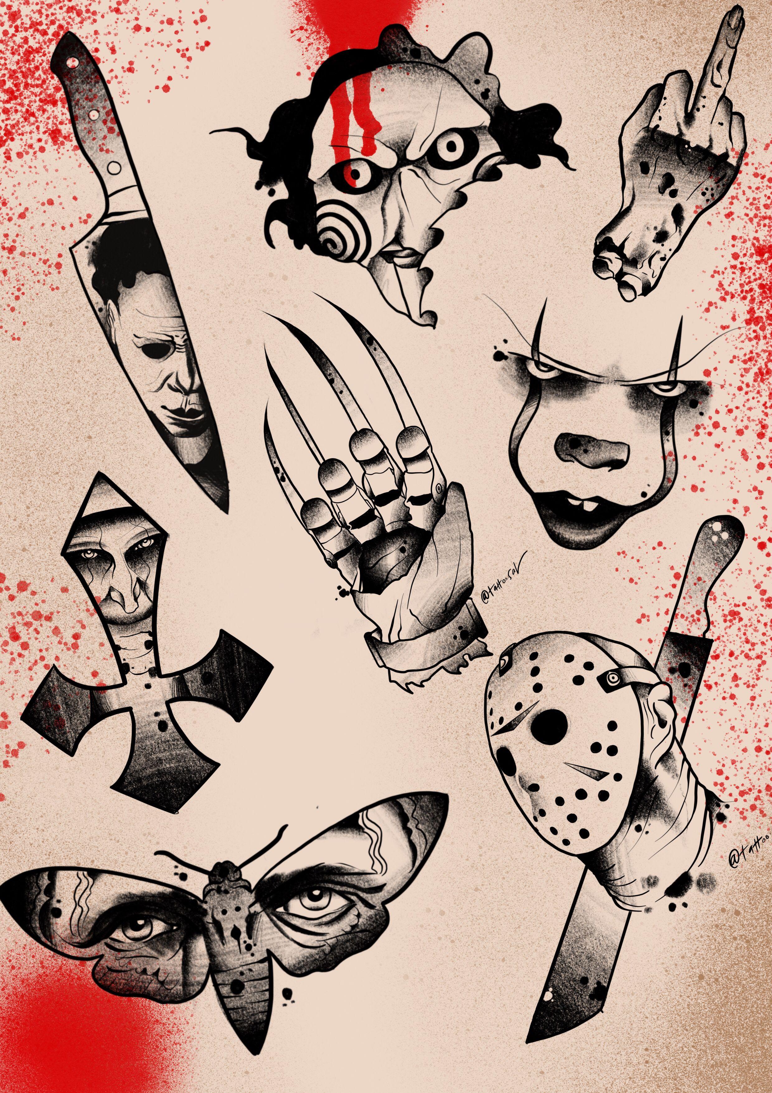 Horror Movie Tattoo Flash The board cover...