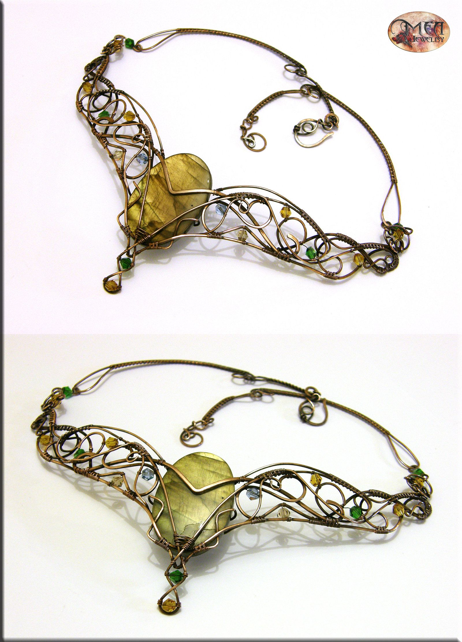 Babylon II v.2- wire wrapped necklace by ~mea00 on deviantART   Wire ...