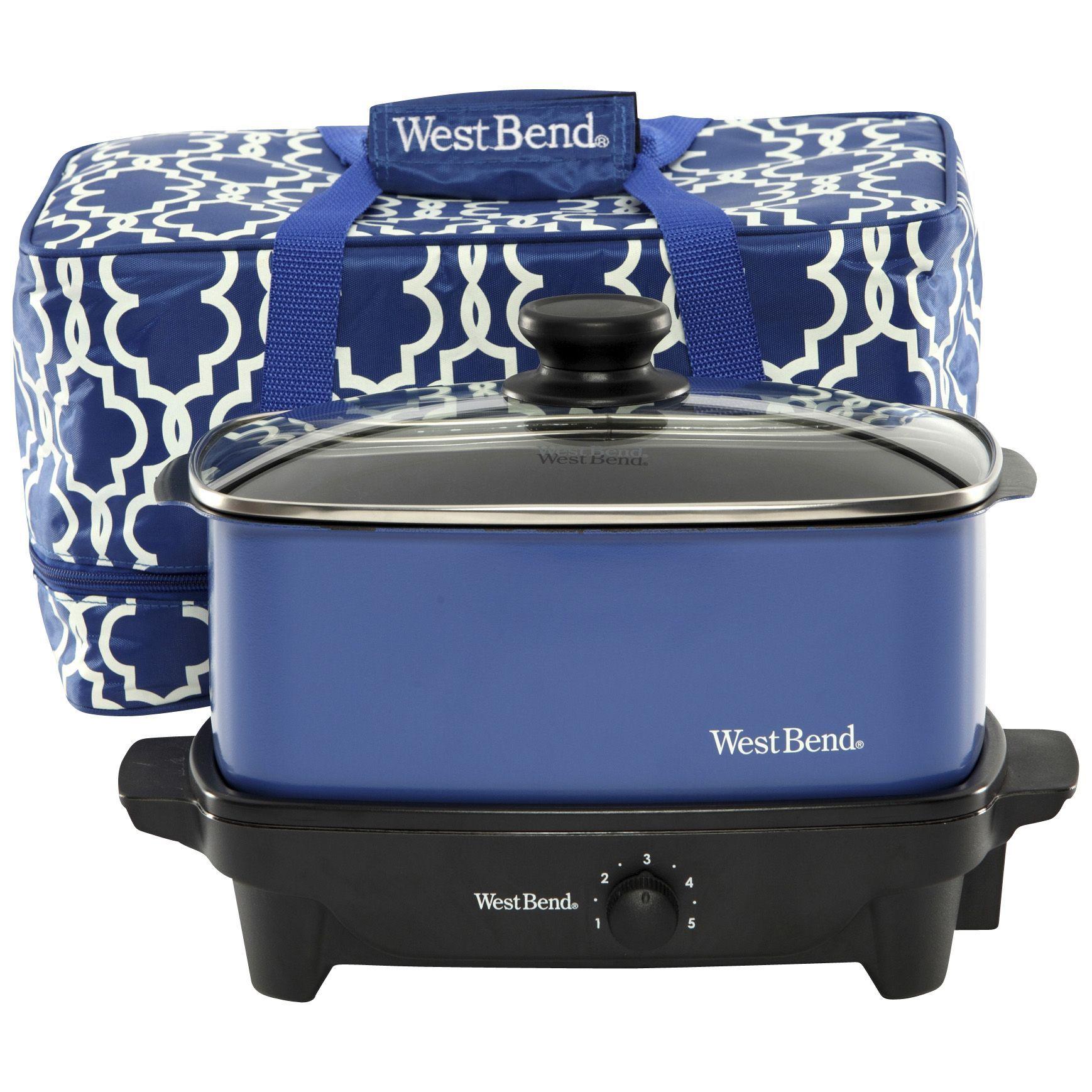 Fingerhut West Bend 5qt Slow Cooker w/ Insulated Travel