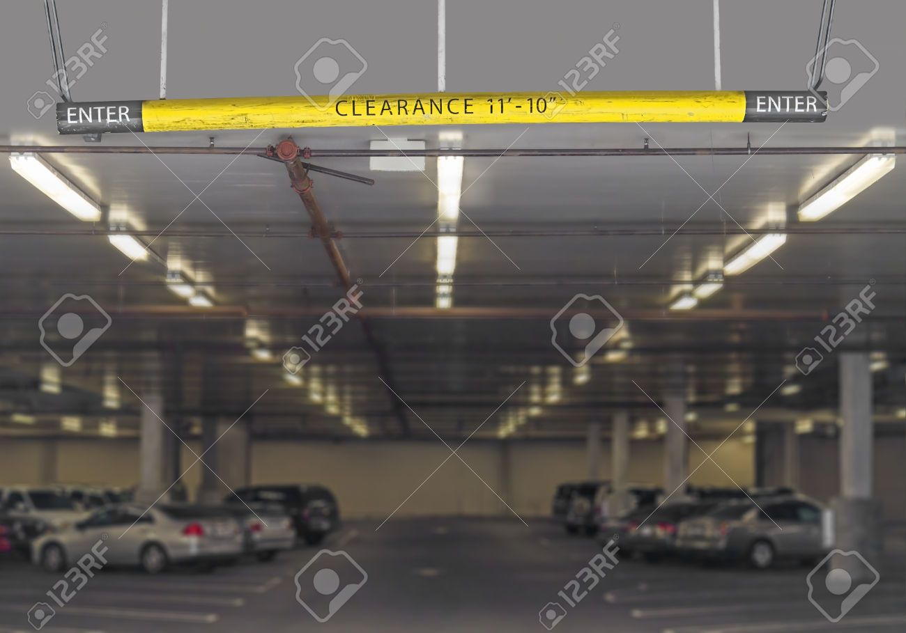 29439917-Indoor-parking-garage-entrance-hanging-sign-with- & 29439917-Indoor-parking-garage-entrance-hanging-sign-with-height ...