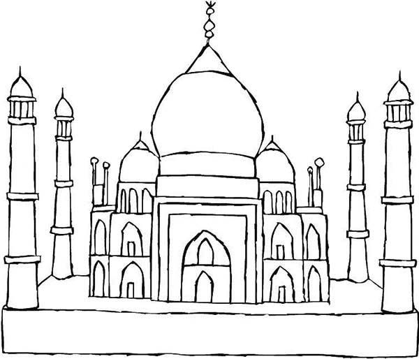 Taj Ma Hal Coloring Pages