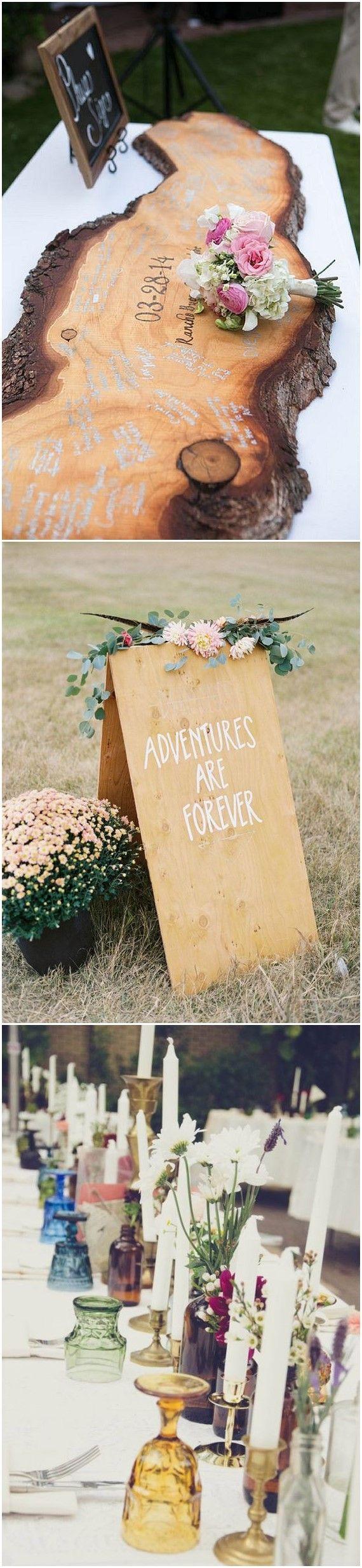 Wooden wedding decor ideas  Wedding Ideas   Gorgeous Boho Wedding Décor Ideas on Pinterest