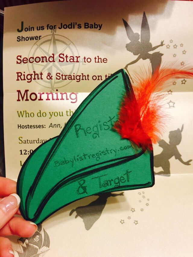Peter Pan baby shower invite | Crocks and clocks ...
