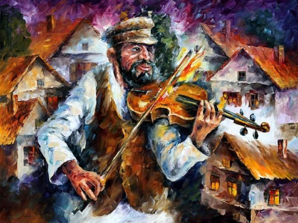 Remake Of Fiddler On The Roof Painting By Leonid Afremov Remake Of Fiddler On The Roof Fine Art P Oil Painting Texture Canvas Painting Oil Painting On Canvas