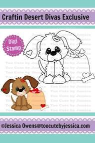 Kissy Puppy Digital Stamp