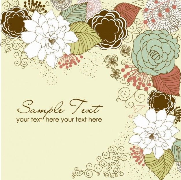 floral greeting card Flowers Pinterest Free graphics - free blank greeting card templates