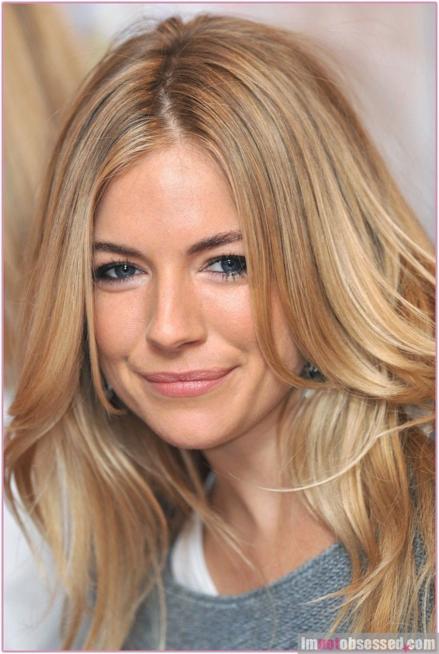 sienna miller butter blonde it 39 s all about the hair pinterest tolle haare mittellange. Black Bedroom Furniture Sets. Home Design Ideas