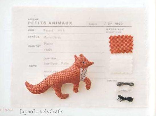 Small Animal Brooch by Imari Murakami - Japanese Sewing Pattern Book ...