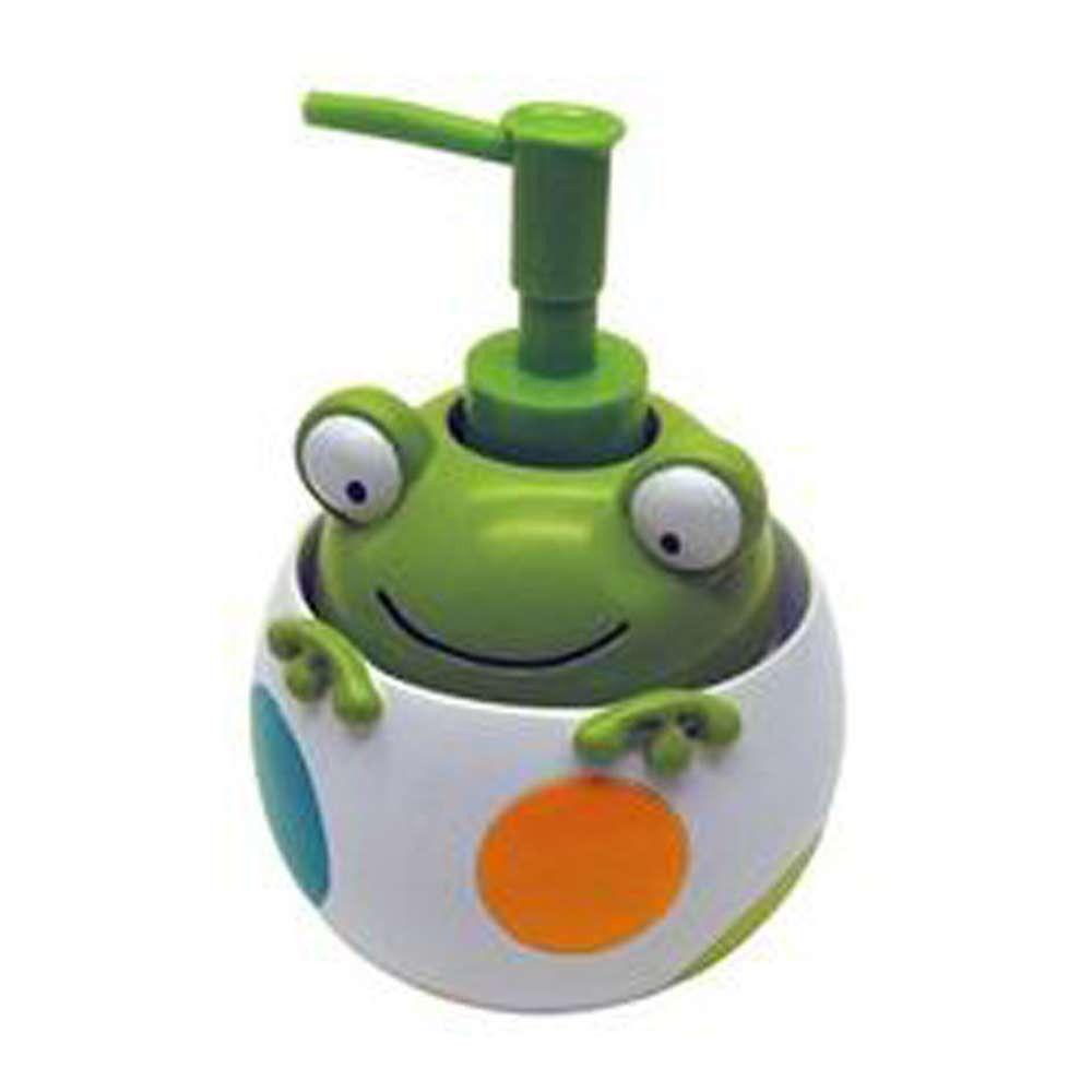 Peeking Frogs Shower Hooks And Lotion Soap Dispenser
