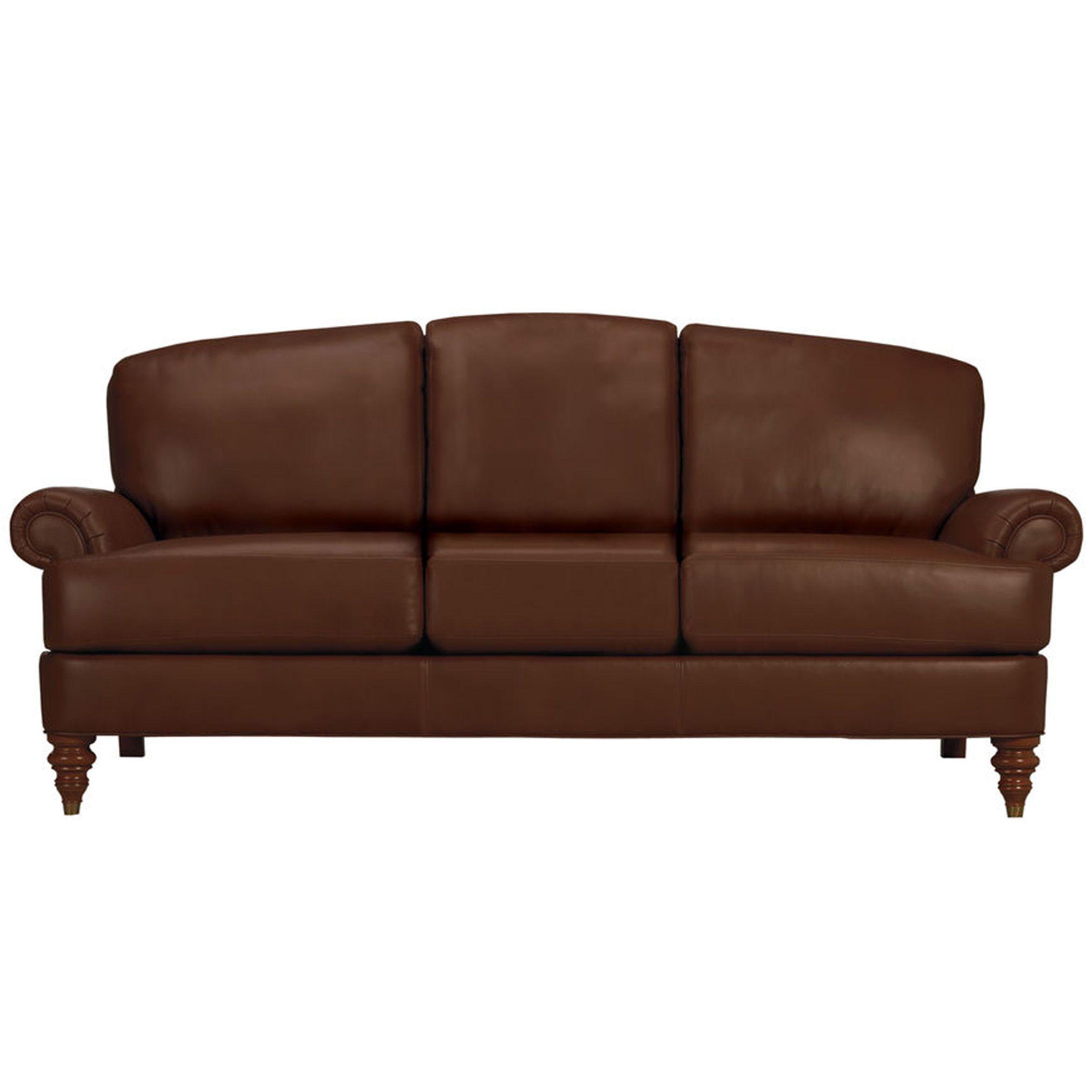 Superior Hyde Three Cushion Leather Sofa   Ethan Allen US