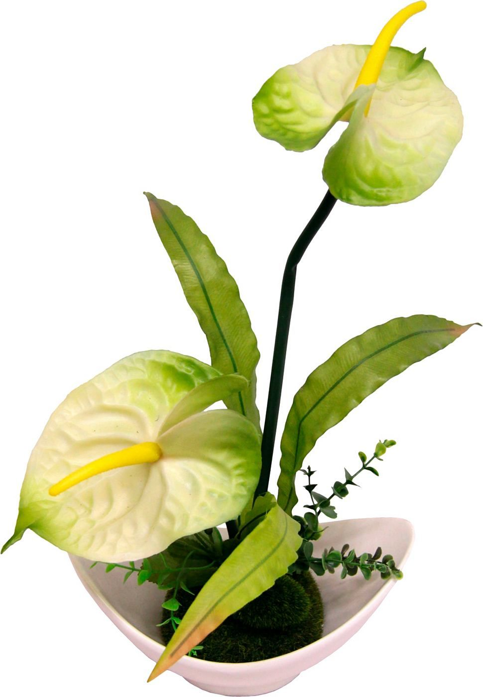 Artikeldetails:  Dekorative Kunstblume, Naturgetreu gearbeitet,  Maße:  Maße (B/T/H): 25/14/39 cm,  Material/Qualität:  Polyester, Kunststoff, Keramik,  ...