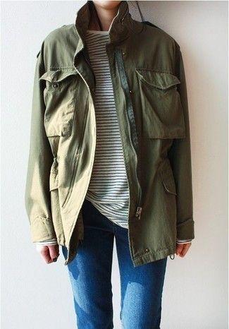 Cómo combinar una chaqueta militar verde oliva en 2016 (85