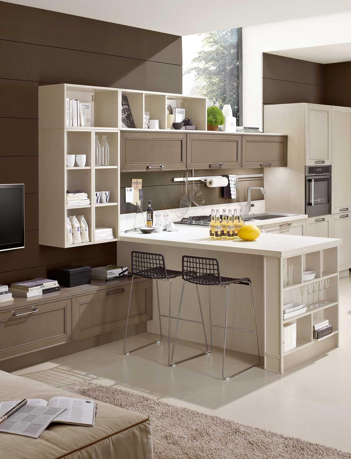 Cucine con la penisola un elemento che divide ma soprattutto unisce arrediamo pinterest - Progettare la propria casa ...