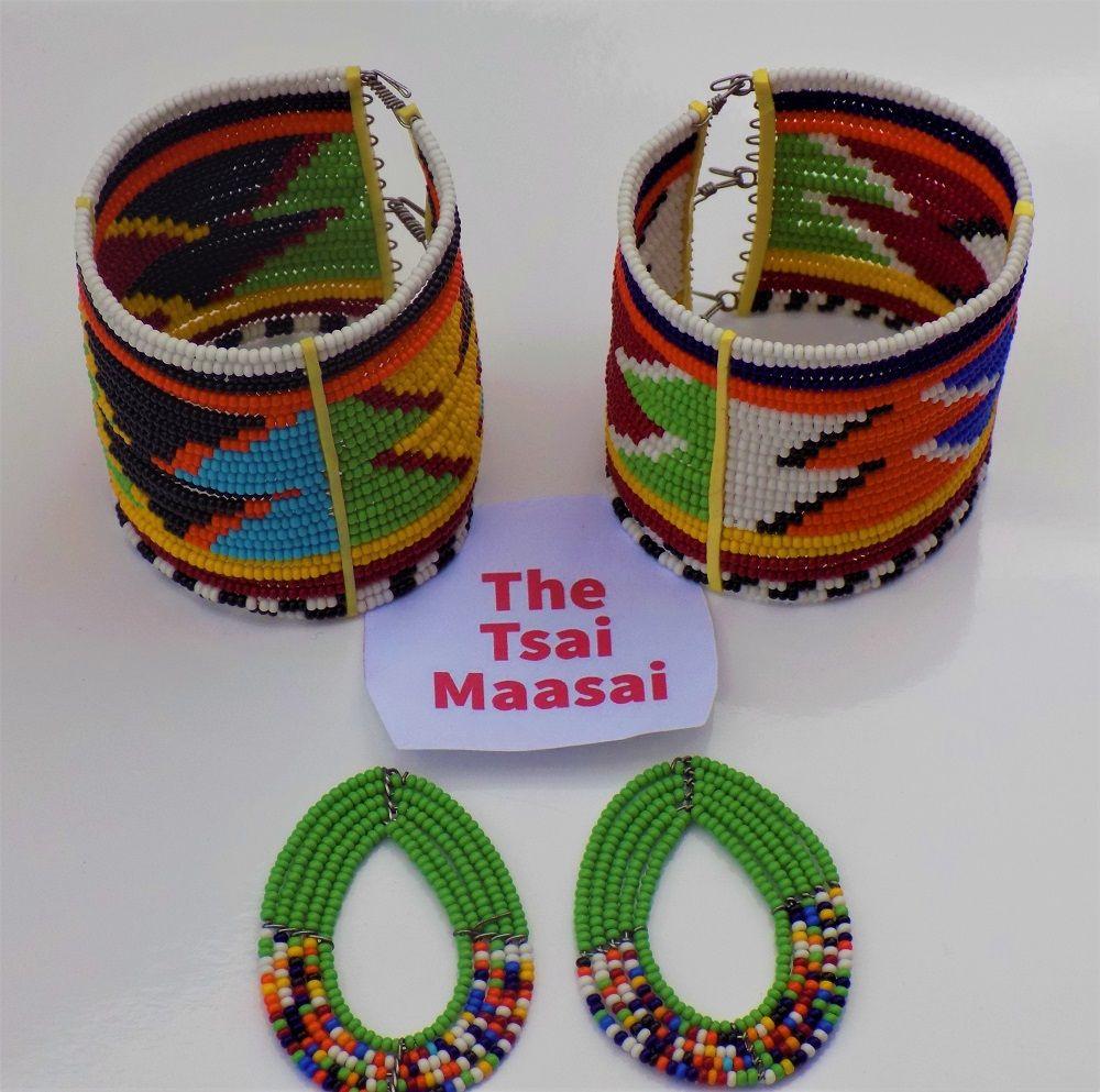 Ethnic Tribal Fabric Silver Button Hook Costume Jewelry Handmade Bracelet