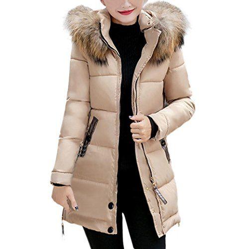 516ea9806e3e1 Longra Grande Taille Doudoune à Capuche Fourrure Femme Hiver Chaud Ultra  Épais Vintage Manteau Femme Hiver