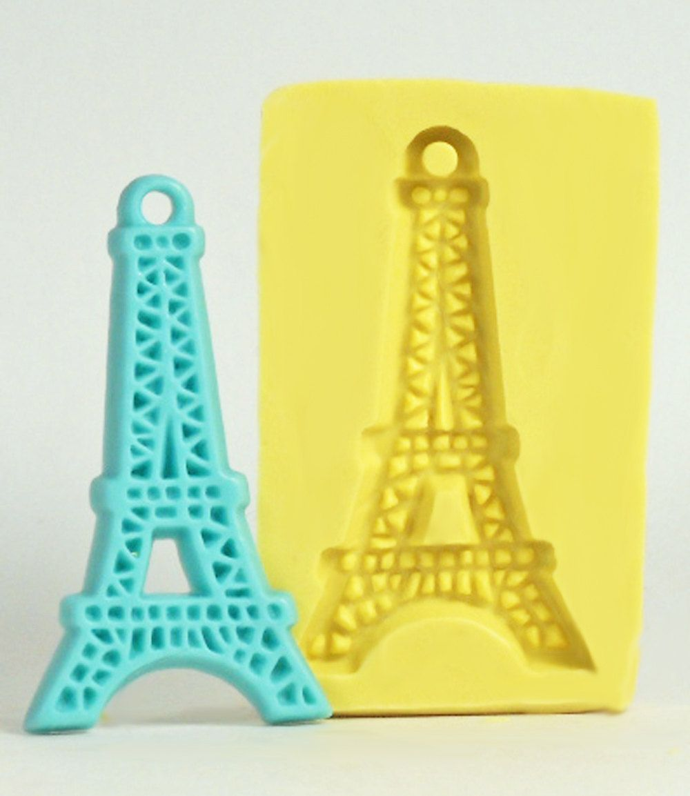 Scrapbook paper eiffel tower - Eiffel Tower De189 Flexible Silicone Mold Crafts Jewelry Resin Pmc