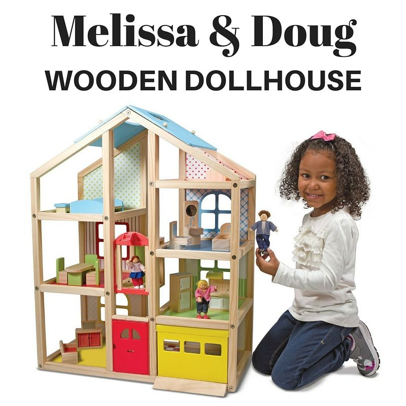 Melissa And Doug 3 Story Wooden Dollhouse