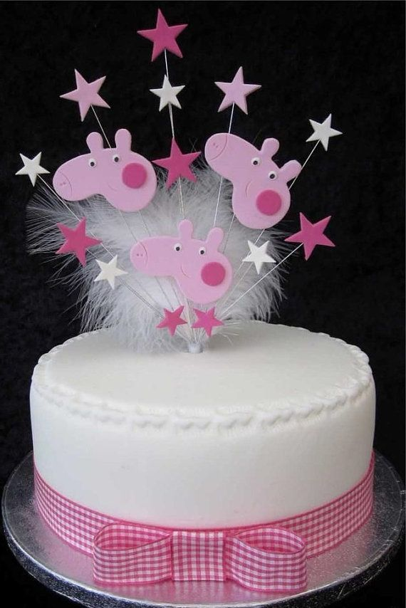 Ideas Para Decorar Mesas De Dulces Peppa Pig Cake Topper | Peppa Pig Birthday | Peppa Pig